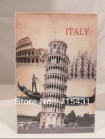 The simulation the Leaning Tower of Pisa&novel safe Creative piggy bank mini book safe box,Secret book,3 sizes,Free shipping
