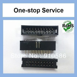 Box Header Straight 2.54mm Pitch 20 Pins ( 2 x 10) black color Connector DC3(China (Mainland))