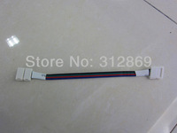 [Seven Neon]Free DHL shipping 500pcs 10mm width 5050 led smd RGB strip connect with 14cm length cable,led strip connector