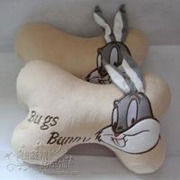 Chno Cartoon rabbit car accessories car headrest cushion neck pillow super soft velvet\Children's gift\throw pillow\Gift pillow