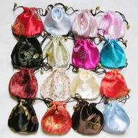 Free shipping 50 pcs 10 x 10cm Silk Bag gift box satins bag