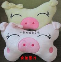 Car supplies soft plush A pair of loading Lovely pig Warm car headrest pillow;back cushion;neckpillow;throw pillow;Waist pillow