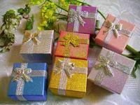 Free shipping 4 x 4 x 3cm ring box stud earring box jewelry box