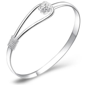 The flower of fashionable romance 925 silver bracelet