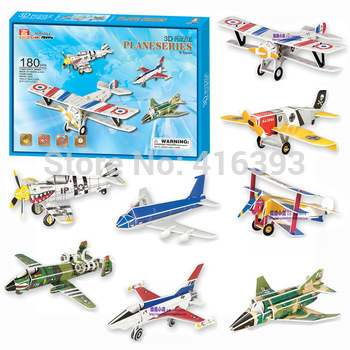 Cubic Happy 3D puzzle building paper model - educational toys - eight aircraft combination G268-24