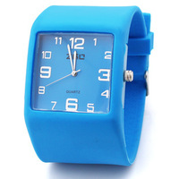 Fashion 6 Colors Wrist Sports Watch Jelly Watch Waterproof Silicone Quartz Watches Free Shippng