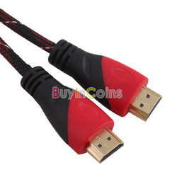 High Speed 5M 16FT HDMI V1.4 Cable Cord Full HD 1080P Nylon for HDTV XBOX PS3 [27494|01|01](China (Mainland))