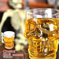 32pcs/lot DHL Free shipping Creative Doomed crystal mugs/Doomed Crystal Skull Shot Glass/skull beer glass (500ml)