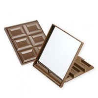 500pcs/lot DHL Freeshipping Super popular Chocolate make-up mirrors pocket cosmetic mirror Wholesale