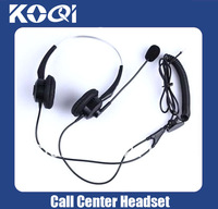 DHL Free Shipping Call center headset with RJ09 noise canceling microphone