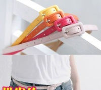 Free shipping,  Fashion Vintage Candy Color Lady  Women's Belt Strap Decoration, 6pcs/Lot S7