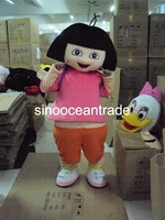 Smiling Dora the Explorer Mascot Costume Fancy Dress Outfit EPE