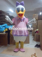 Daisy Duck Mascot Costume Fancy Dress Outfit EPE