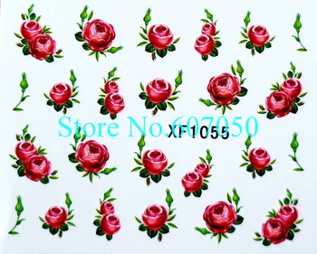 48pcs/lot(24designs) x 2D NEW Water Transfer Nail Art Flower Decal Stickers(1049-1072) -Free Shipping