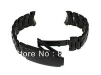 New Lug Width 20mm Black Solid Stainless Steel Watch Band Strap Fit Case Numbers 168.1651 and 168.1653 Model 2201.50.00