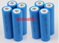 New 8pcs LED Flashlight Torch Rechargeable 18650 battery 5000MAH Li-ion 3.7V sport goods