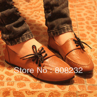 2013 lacing british style vintage single female OL flats shoes FREE SHIPPING