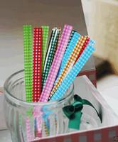 twist tie classic gingham pattern wire twist for bags,12x0.8cm
