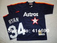 Free Shipping Wholesale&Retail Houston Astros Jersey #34 Nolan Ryan Throwback Baseball Jersey,Embroidery Logo,Can Mix Order