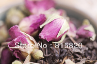 100g Rose  Puerh Tea, Ripe Puer tea with Rose flower,Ripe Pu'er Tea, Free Shipping