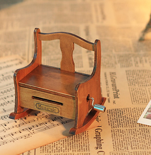 free shipping Paper tape music box music box chair hand paper tape music box 2012 diy new year gift