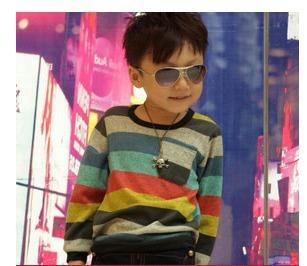Wholesale 5pcs/lot Fashion Cotton boy's t-shirts baby t shirts  Striped long-sleeve childrens t shirt kids wear