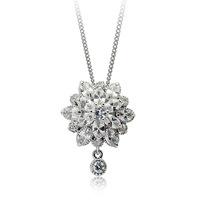Crystal silver zircon necklace female accessories fashion accessories flower