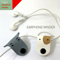 2745 lovers dog button dog earphones cable winder cable winder finisher management-ray device (HM)