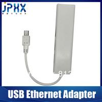 Free shipping Micro usb to lan rj45 adapter multi port network card with 3 USB HUB