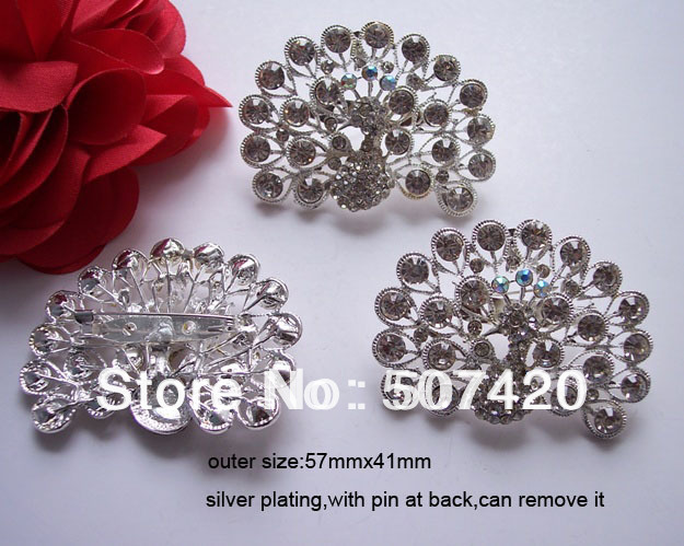 (L0302) free shipping wholesale 50pcs/lot, rhinestone brooch with pin at back,stunning products(China (Mainland))