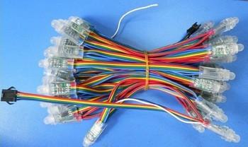 WS2801 Pixel module IP68 Glue perfusion  DC5V input 12mm led pixel node 50pcs a string Full color led module