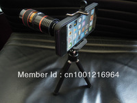 Hot Sale 8X Zoom Optical Telescope Lens with Tripod For iPhone5 Creative accessories