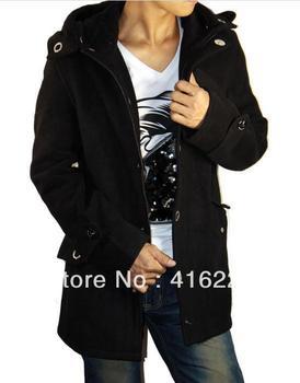 Q876 Free Shipping men coat winter wool long outerwear casual wear men fashion garment