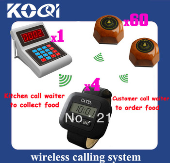 Cafe Wireless pager system Waiter pager system ; Guest call waiter to order Chef call waiter to pick up order DHL Free Shipping