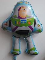 "PT0068 29"" Inch Toy Story Buzz Shape Foil Mylar Balloon Children Birthday Party, 10pcs/lot, free shipping"
