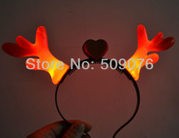 Free shipping 10pcs/lot  red pink blue led flashing headwear led flashing hair clip novelty decoration for Party
