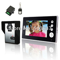 Free shipping 7'' wireless video doorbell intercom, remote control unlocking