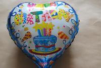 PT0033 High Quality Heart-Shaped Birthday Mylar Balloon, Birthday Love Balloon, 10pcs/lot, free shipping