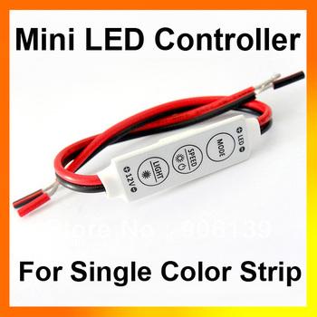 Wholesale 12V 144W Mini Sinlge Color 3528 5050 Strip LED Controller Dimmer