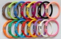 Popular Wristwatch Anion silicone watch Digital display wholesale 5PCS/LOT Free shipping