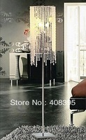 free shipping 3 - Light Floor Lights with Crystal Beads