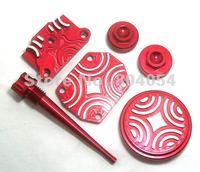 RED CNC ENGINE DRESS UP KIT for Honda CRF50 XR XR50 70 125 138 KLX110 TTR90