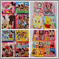 10pcs/lot Child small facecloth cartoon towel 100% cotton baby bib towel free shipping