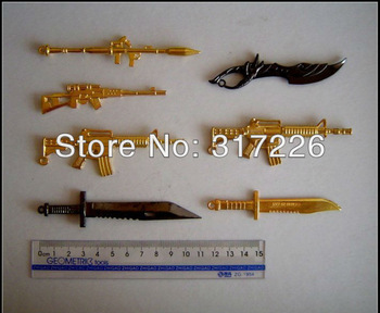 Freeshipping Wholesale Toy Figure Models Guns for Metal Gear and CrossFire (7pcs)