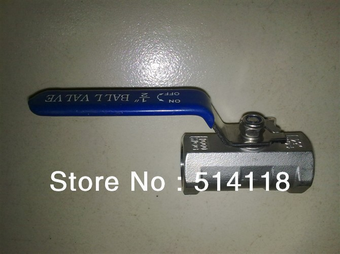 "Free shipping!1""(DN25) 304 STAINLESS STEEL 1PC BALL VALVE REUDUCED PORT THREADED END,1000WOG/UNLOCKABLE/DISCOUNT VALVE(China (Mainland))"