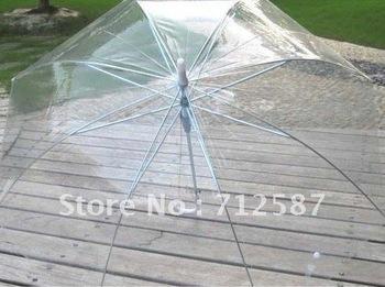 Stick Umbrella,Transparent mushroom Umbrella Princess Umbrella/ parasol#8735