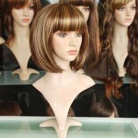 free shipping New Short Light Brown&Dark brown Fashion BOB Wig