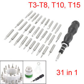 31 In 1 Nonslip Handle T3 T4 T5 PH00 Screwdrivers Set Phone Kit Tools