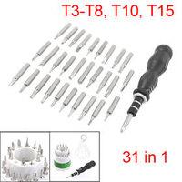 31 In 1 Nonslip Handle T3 T4 T5 PH00 Screwdrivers Set Phone Kit Tools