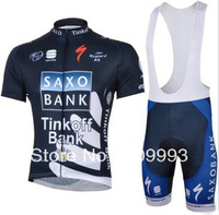 2013 Saxobank New Arrival Hot Sales Cycling Jersey Rock +Bib Short Set/Racing Jackets/Cycle Wear/Sport Cloth/ Biking Gear